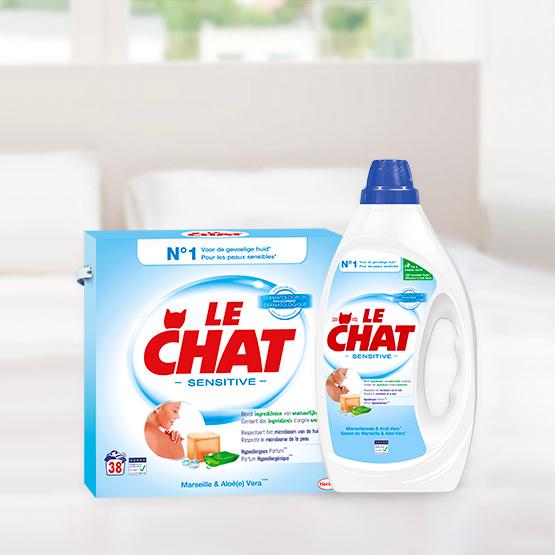 Le Chat Sensitive, lessive pour les peaux sensibles