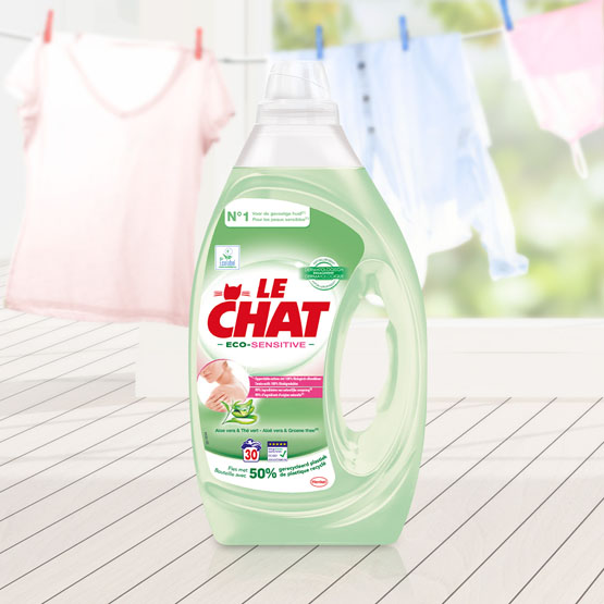 Le Chat Eco-Sensitive, lessive écologique pour les peaux sensibles