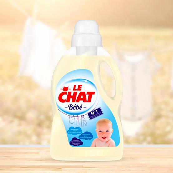 Le Chat Bébé, lessive pour la peau sensible des bébés